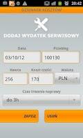 Screenshot of Dziennik kosztów auta (v2.1.4)