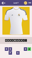 Screenshot of Football Clubs Jersey Quiz