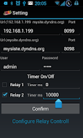 Screenshot of relay 2 remote control net PRO