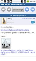 Screenshot of Sailboat Discussion Forum