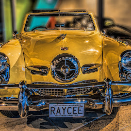 Studebaker by Vibeke Friis - Transportation Automobiles ( 1950 yellow, studebaker, classics car, antique cars,  )