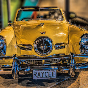 Studebaker by Vibeke Friis - Transportation Automobiles ( classics car, studebaker, yellow, 1950, antique cars,  )
