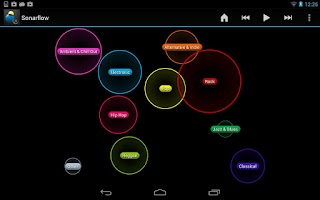 Screenshot of Sonarflow Visual Music Player