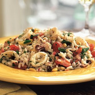 Marinated Calamari and Rice Salad