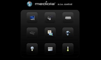 Screenshot of mediola® a.i.o. remote
