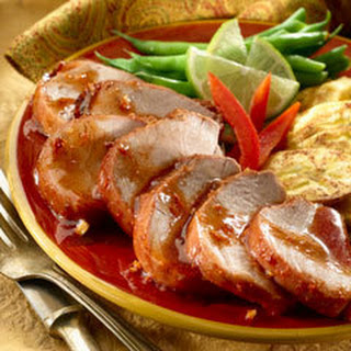 Pork With Guava Chipotle Sauce