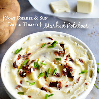 {Goat Cheese + Sun Dried Tomato} Mashed Potatoes
