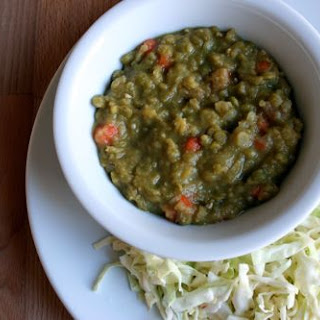 Split Pea Soup and Simplest Slaw