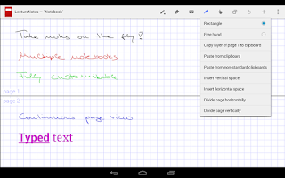 Screenshot of LectureNotes