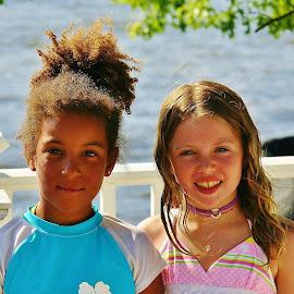 Summer Fun by Alvin Simpson - Babies & Children Child Portraits ( canon, water, girls, summer, children, lake, fun, kids, rebel, sun )