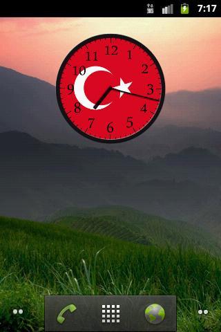 模擬時鐘的土耳其