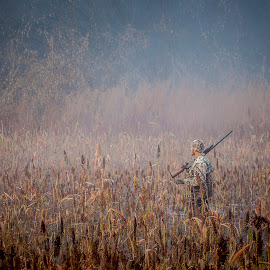 Doza Creek Duck Hunter by Gretchen Steele - People Portraits of Men ( hunter, outdoor recreation, waterfowl hunter, poublic land hunting, recreation )