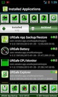 Screenshot of URSafe App Backup/Restore