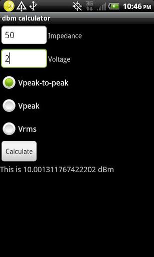 dBm Calculator
