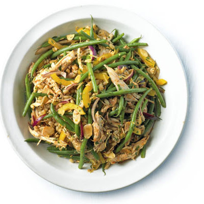 Shredded Chicken, Green Bean & Barley Salad With Paprika & Lemon