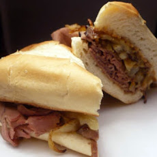 Crock Pot Roast Beef Au Jus Sandwiches