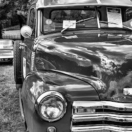 Chevrolet Pick Up Truck by Simon Sweetman - Transportation Automobiles ( pickup, truck, chevrolet, 1953, chevy, burnley car show )
