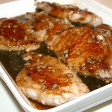 Pan Sauteed Pork Chops With Garlic-Hoisin Sauce