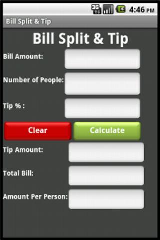 Bill Split Tip