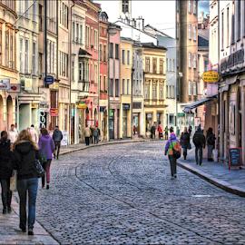 by Ivan Rusek - City,  Street & Park  Street Scenes