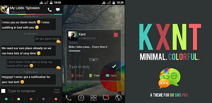 Go SMS Theme Color Minimal v1.7.3
