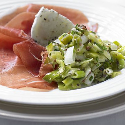 Leek & mustard vinaigrette with Carmarthen ham