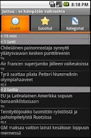 Screenshot of Juttuu (a finnish news client)