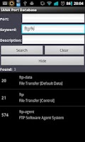 Screenshot of Network Port Database