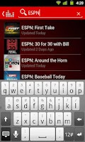 Screenshot of ESPN Radio