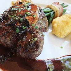 Beef Tenderloin Steaks with Smoky Bacon-Bourbon Sauce
