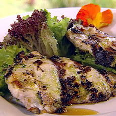 Pesto Mayonnaise Covered Opakapaka Fish