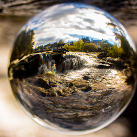 a different view of killen by Gary Power - Artistic Objects Glass ( scotland, ball, waterfall, glass )