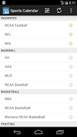 Screenshot of Sports Calendar