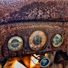 Chevy Dashboard by Alan Roseman - Transportation Automobiles ( old, chevy truck, truck, wreck, rusted, chevy, abandoned, decay )
