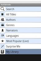 Screenshot of Audiobooks