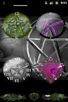 Screenshot of Pentacle Clock Widget