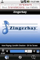 Screenshot of Zingerbay Radio