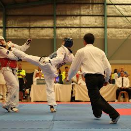 Taekwondo head kick  by Will Afonczenko - Sports & Fitness Other Sports