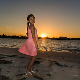 Sunset Portrait by Anthony Ochoa Olga Lopez - People Family ( sunset )