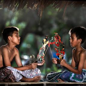 wayang by Mohd Helmie Wahab - Babies & Children Children Candids