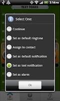 Screenshot of Free Text Tones