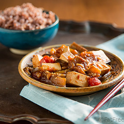 Eggplant and Tofu in Spicy Garlic Sauce