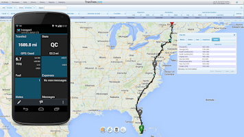 Screenshot of TruxTrax Free Vehicle Tracker