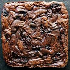 Balsamic Roasted Cherry Brownies