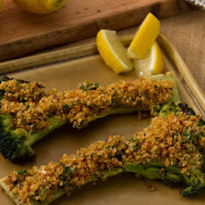 Grilled Broccoli with Anchovy Gremolata