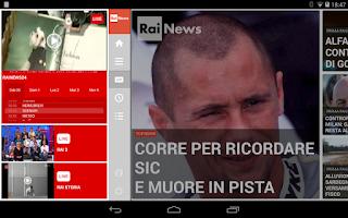 Screenshot of Rainews