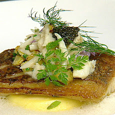 Pan Roast Louisiana Blackfish with Corn, Crab and Caviar
