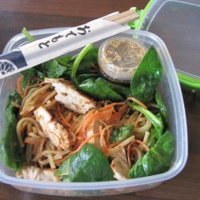 Healthy lunchbox Japanese noodle salad