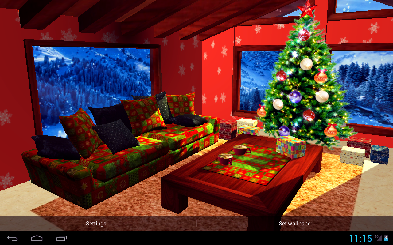 3D Christmas Fireplace HD Full Screenshot 15