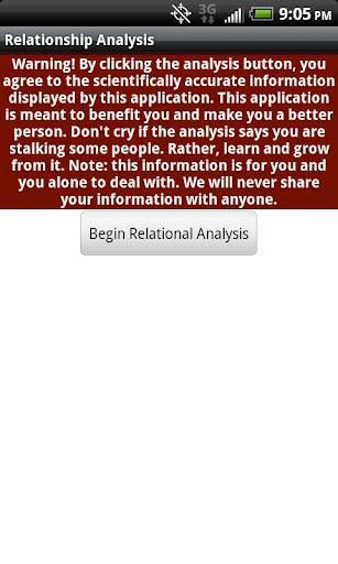 Relationship Analysis PRO - screenshot